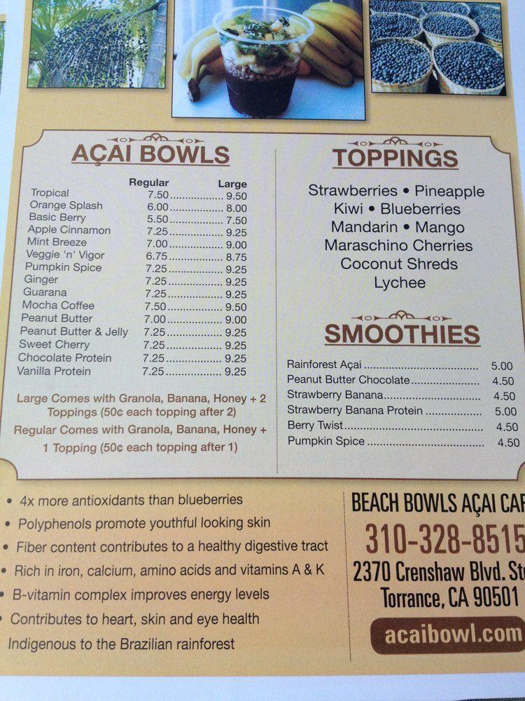 Photos For Beach Bowls Acai Cafe Yelp