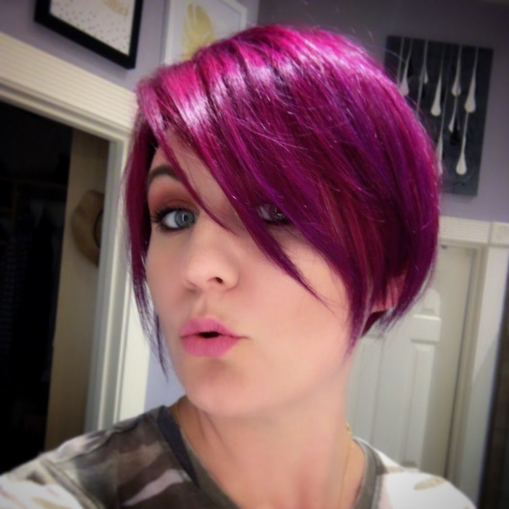Electric Purple Hair Achieved With Ion Radiant Orchid Mixed With Arctic Fox Violet Dream And Manic Panic Ultr Hair Color Pastel Cute Hair Colors Diy Hair Color