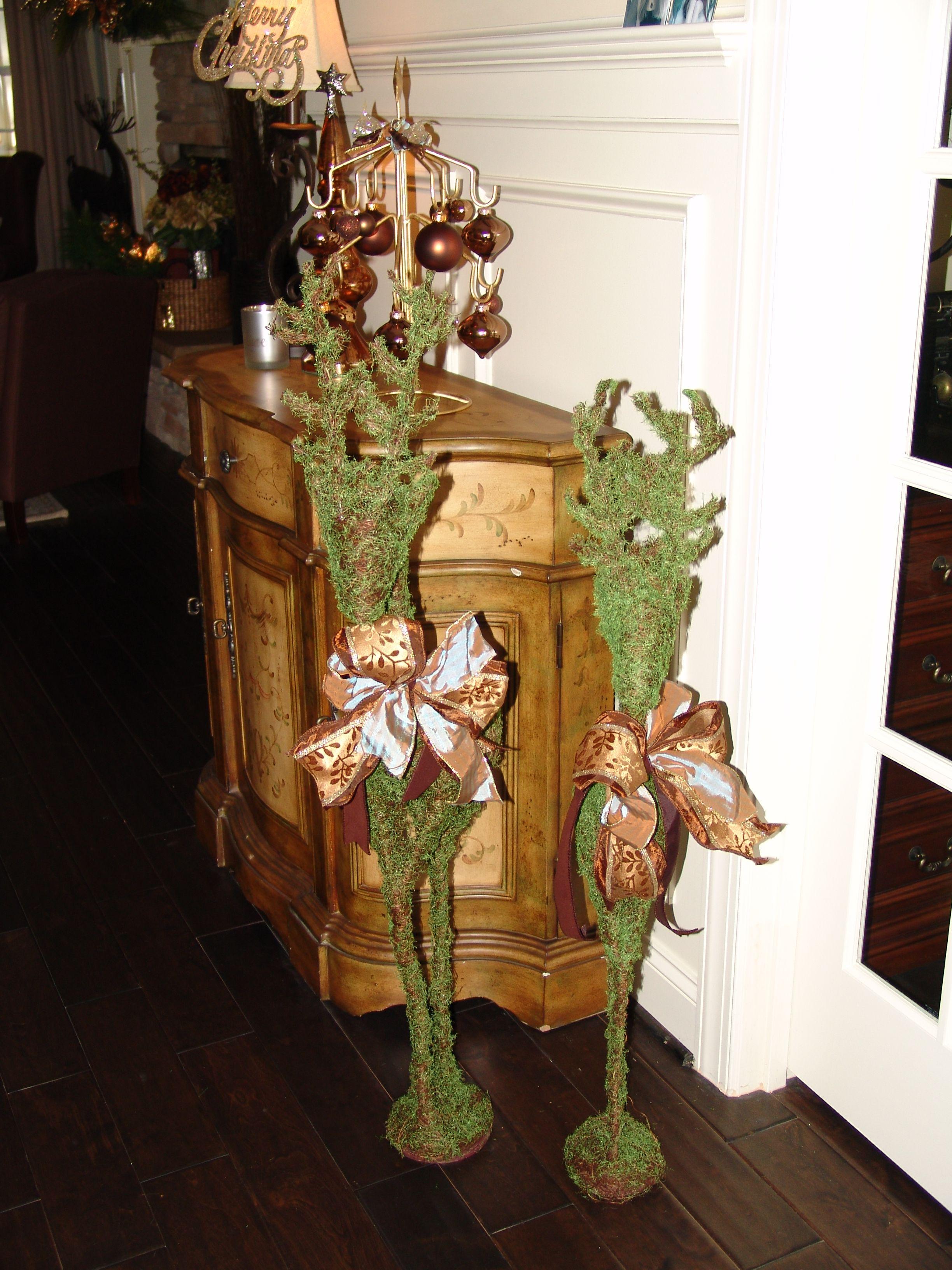 Christmas Ornaments Moss Reindeer