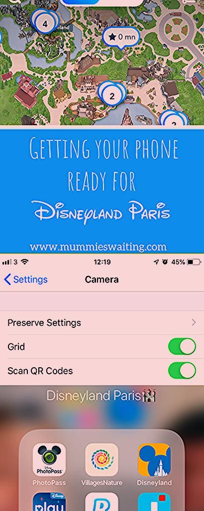 Photo of Getting your phone ready for Disneyland Paris