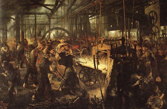 La Forge (cyclopes modernes), 1875, Adolf von Menzel, Berlin, Nationalgalerie | Google art ...