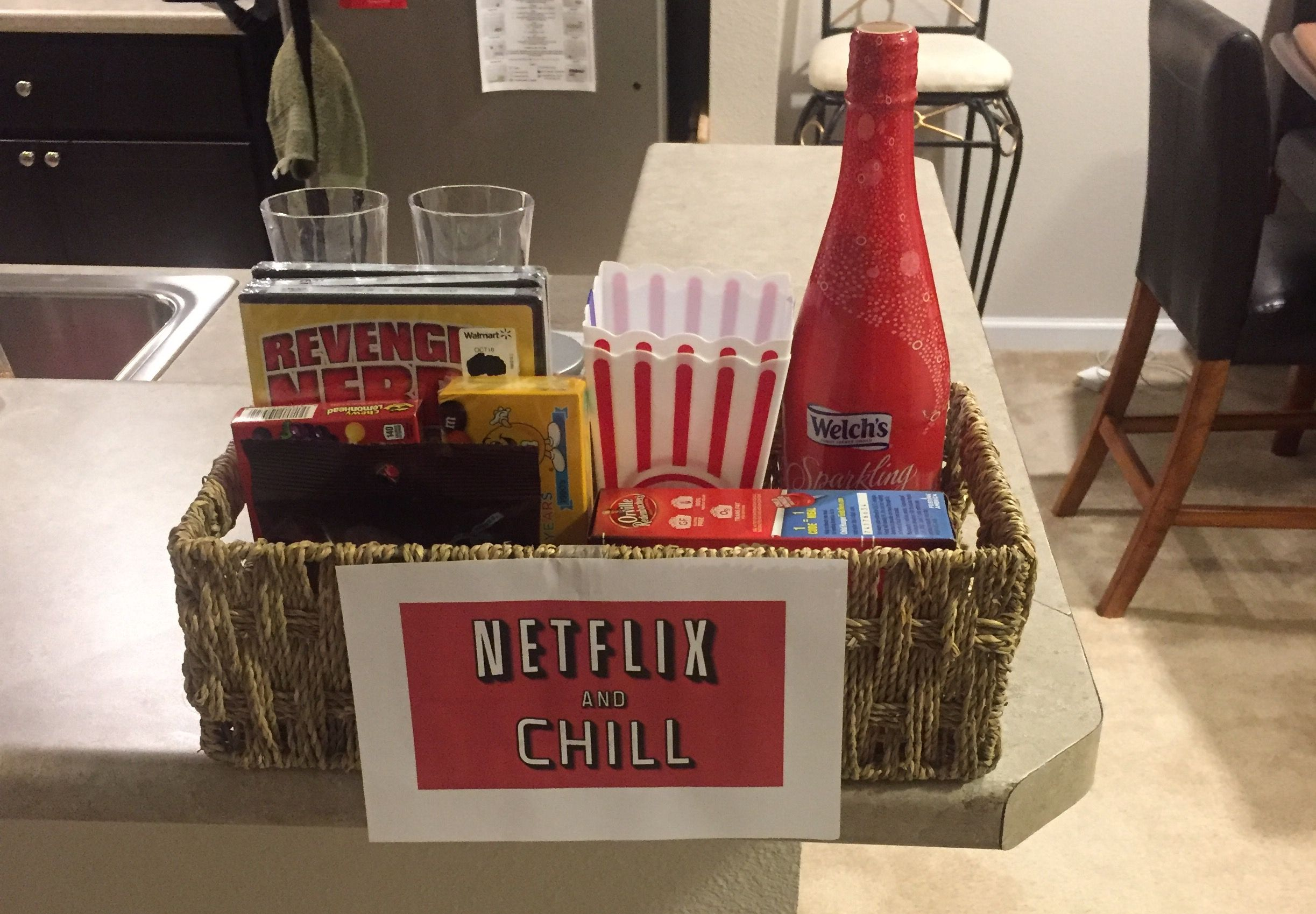 Wedding Gift Online: Netflix And Chill Bridal Shower Gift Basket -Watch Free