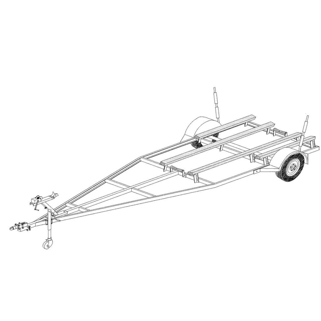 boat trailer variable width  u0026 length trailer plans