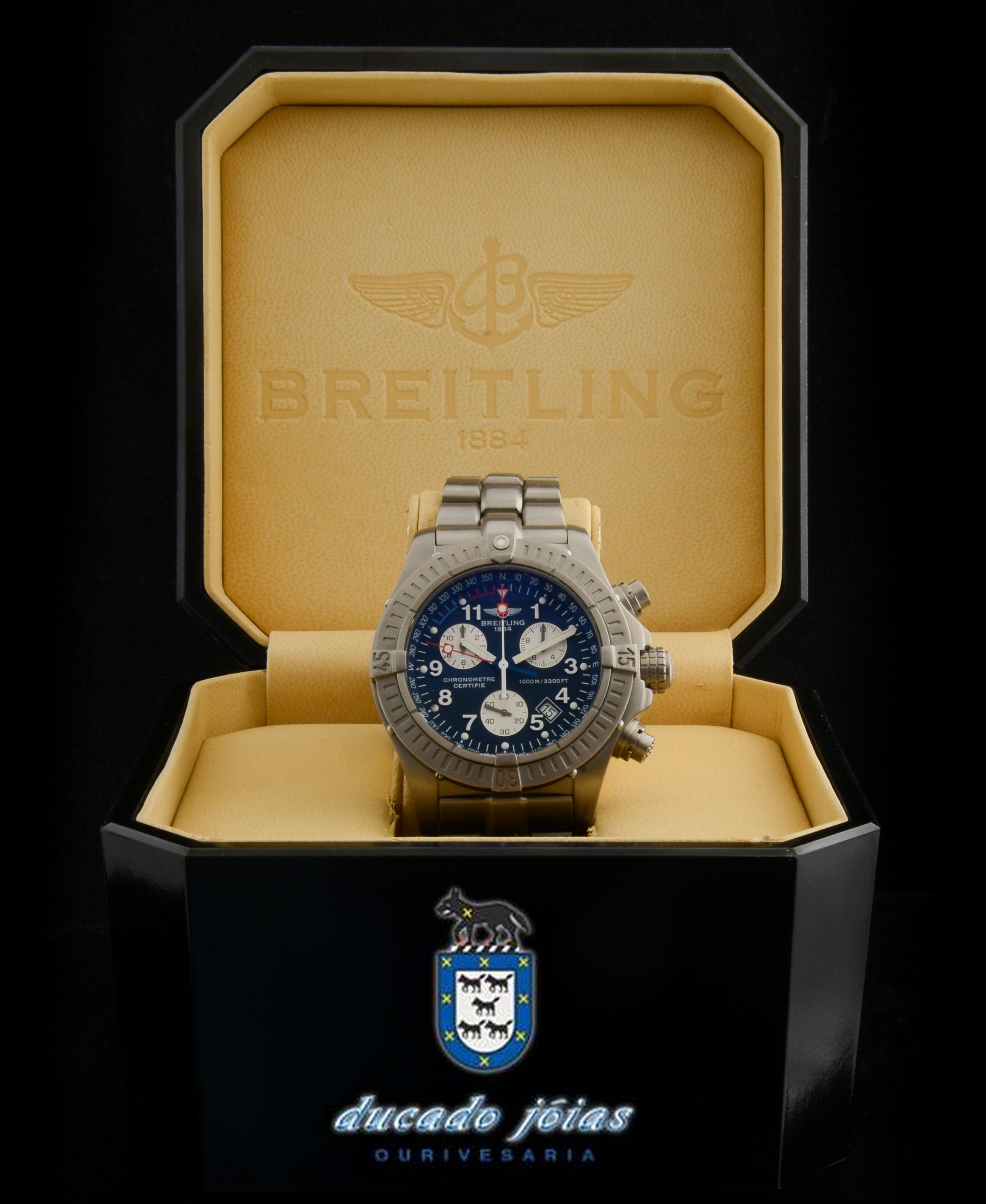 b3963d04d8a Pre-owned Breitling avenger M1 chronograph in Titanium. With box and  papers. Shop online