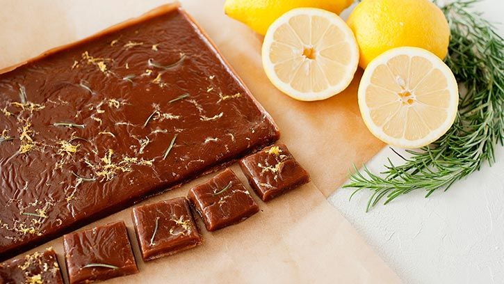 Preparing homemade caramels? Make it special with the addition of citrus and fresh herbs.