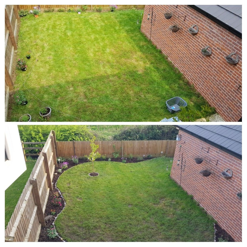 UK] Before and after. Had a busy weekend transforming our new ...