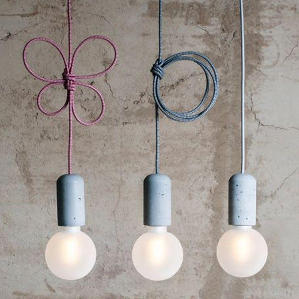 concrete pendant lamp | owietlenie | Pinterest | Pendant ...