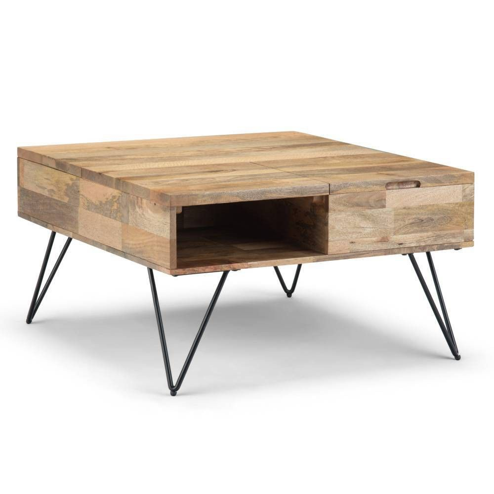 32 Moreno Lift Top Square Coffee Table Natural Wyndenhall Square Wood Coffee Table Coffee Table Square Coffee Table [ 1000 x 1000 Pixel ]