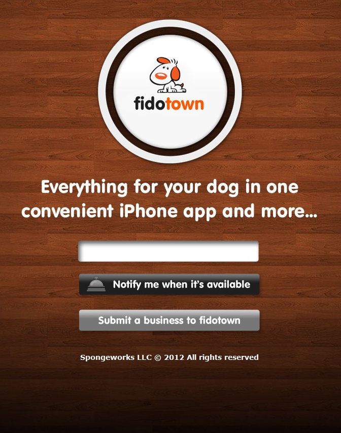 fidotown - iPhone app for dog owners    (via http://www.fidotown.com/ )