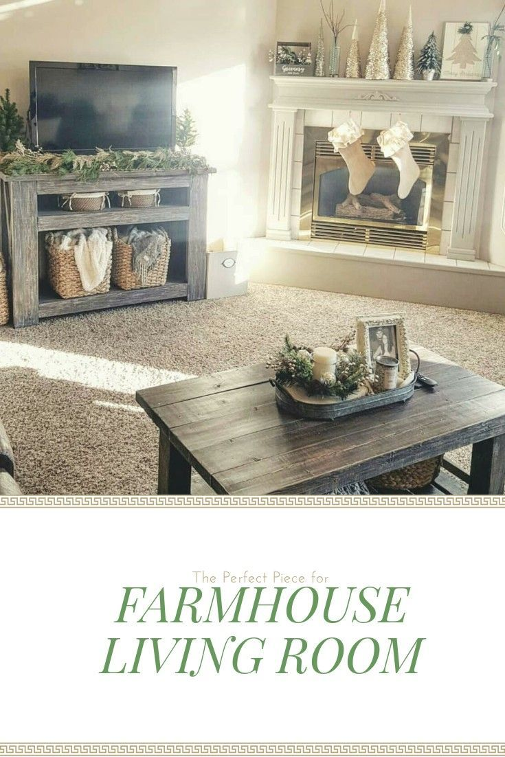 I love this tv console table for my farmhouse style living room ...