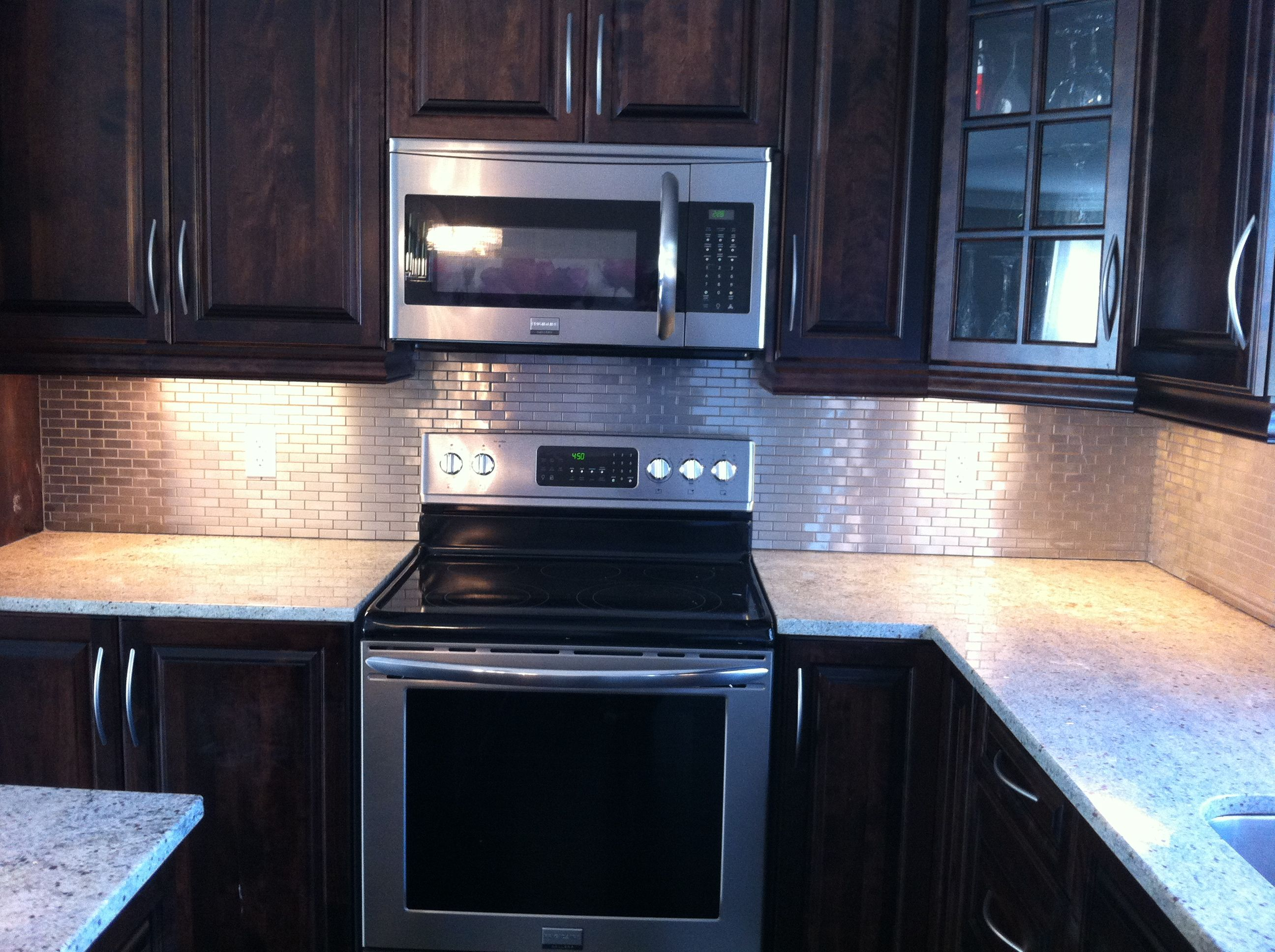 Stainless Steel Backsplash installed By Stepping Stone & Tile #SST ...