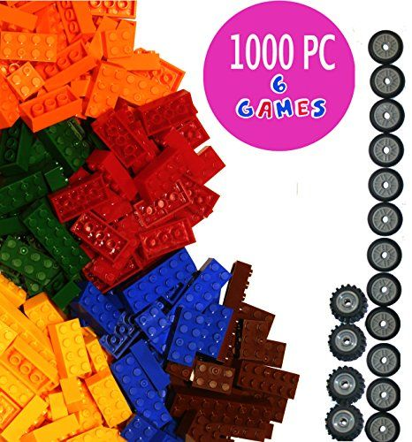 Dreambuildertoy building bricks 1040 pieces set 1000 basic building blocks in