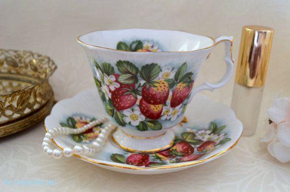 On Sale Royal Albert Orchard Series Strawberry By Theteacupattic Tea Cups Tea Cups Vintage Royal Albert