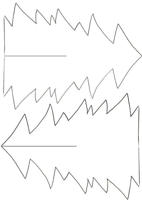 Imprimer le mod le de sapin en papier d corer t te - Modele de sapin ...