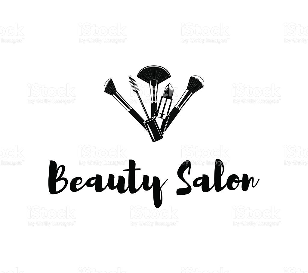 Beauty Salon Badge Makeup Brushes Logo Vector Illustration Isolated Royalty Free Stock Vector Art Vector Logo Vector Illustration Makeup Brushes