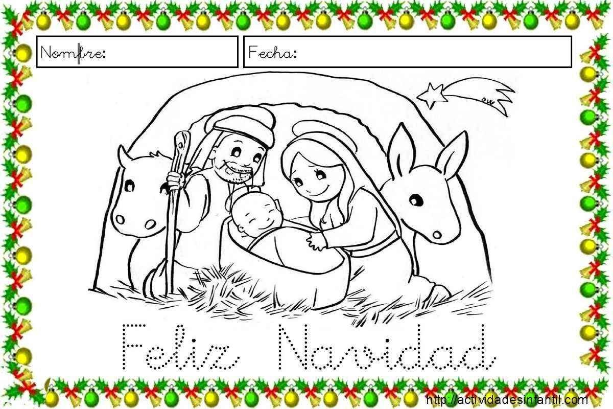 Fichas De Dibujos De Navidad.Fichas Para Trabajar La Lectoescritura En Navidad Lectura