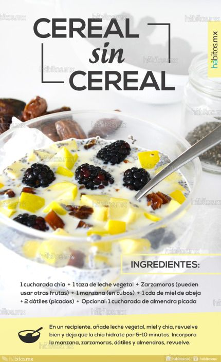 Cereal sin Cereal / Zarzamora y Manzana – Hábitos Health Coaching