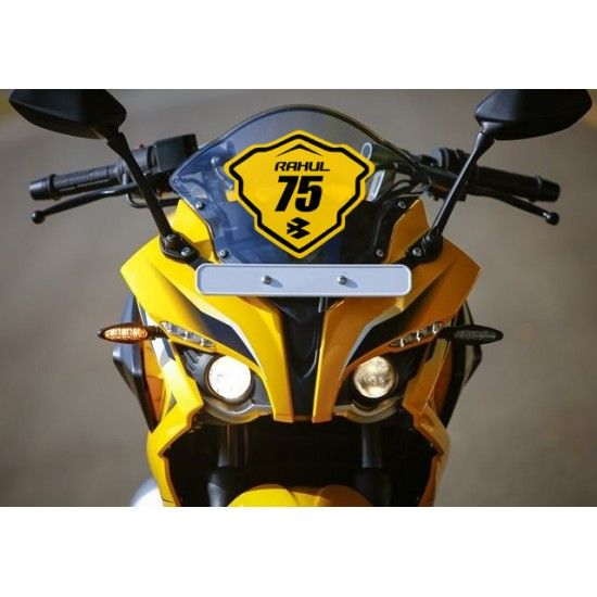 Racing style name and number sticker for Bajaj Pulsar