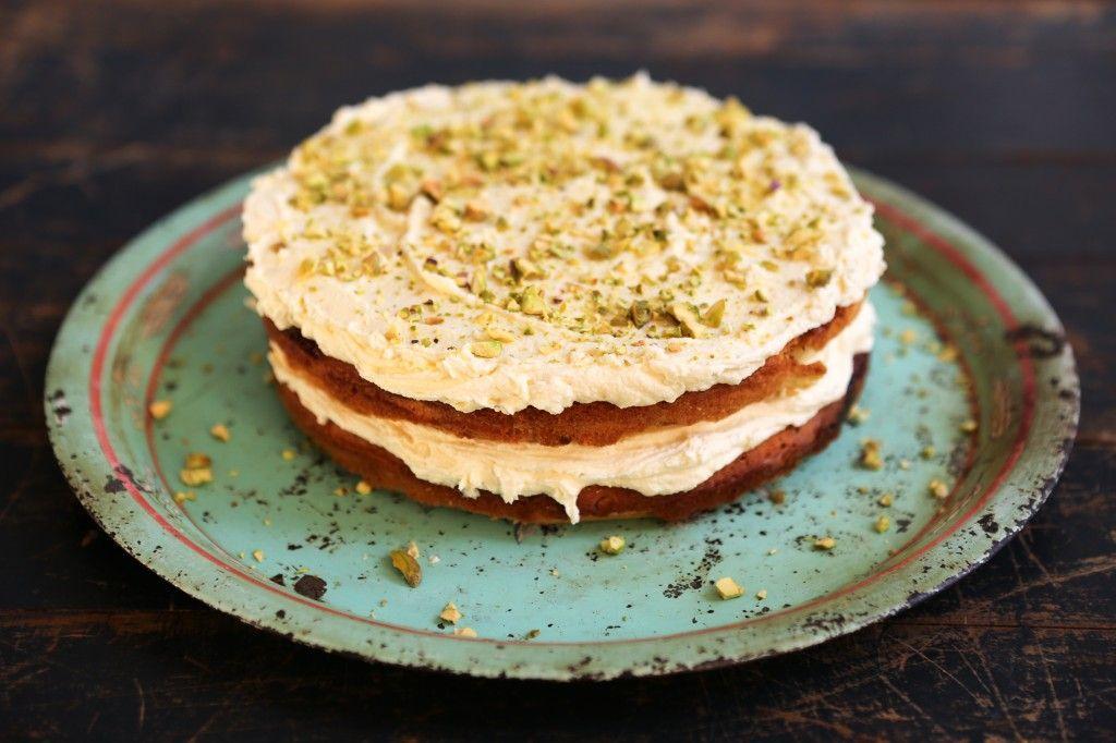 Chetnas Pistachio White Chocolate Cake Jamie Oliver