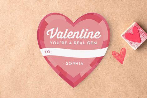 あなたは、宝石教室バレンタインデーのカードだ