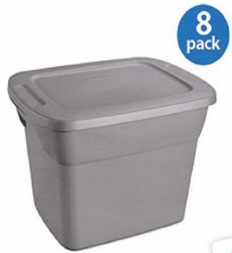 Set of Packing Storage Bins with Lids 18 Gallons Sterilite Tote Box Stackable Plastic Containers  sc 1 st  Pinterest & Set of 8 Packing Storage Bins with Lids 18 Gallons (72-quart ...