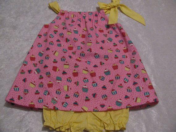 Cupcake pillowcase dress with panties