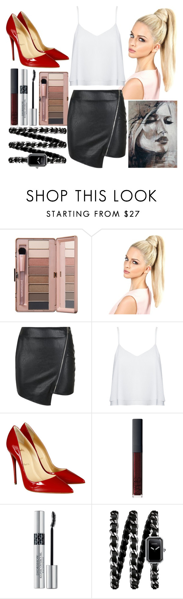 """""""Sin título #814"""" by candiibella ❤ liked on Polyvore featuring Parisian, Alice + Olivia, Christian Louboutin, NARS Cosmetics, Christian Dior, Chanel, women's clothing, women's fashion, women and female"""