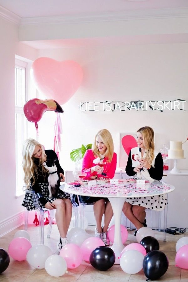 An Afternoon With Partyskirts X Shopbymonika Glitter Guide Flamingo Party Wedding Balloons Pretty Party
