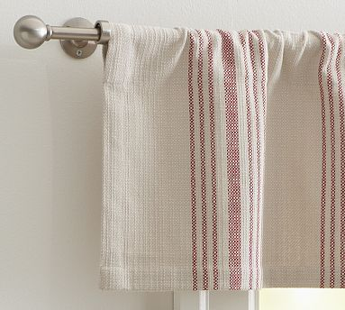 French Stripe Valance 50 X 13 Quot Red Potterybarn