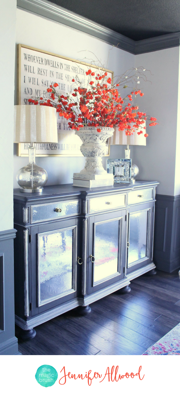 How To Make Mirrored Furniture With Contact Paper Magic Brush