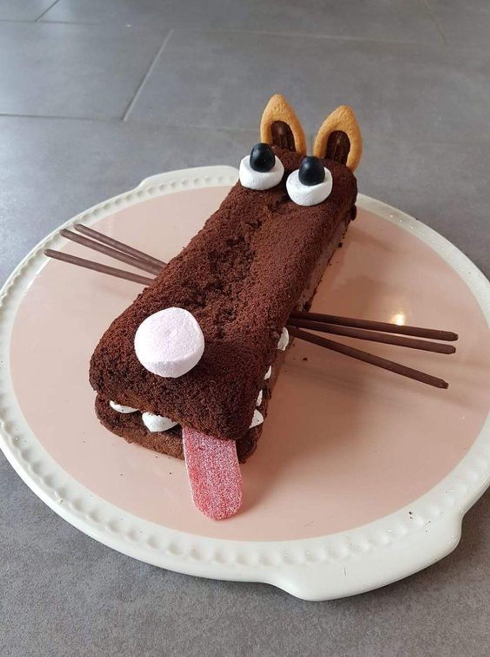 Gâteau d'anniversaire loup