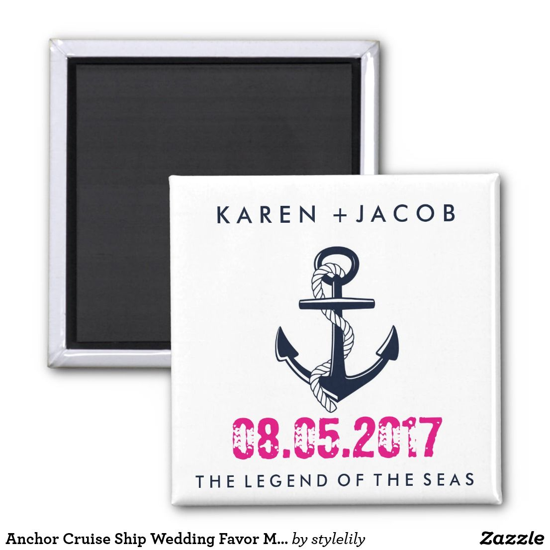 Anchor Cruise Ship Wedding Favor Magnets Wedding Destination