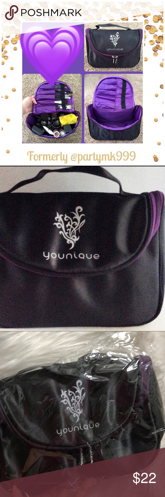 Younique Collectors Cosmetic Bag RETIRED NEW Boutique