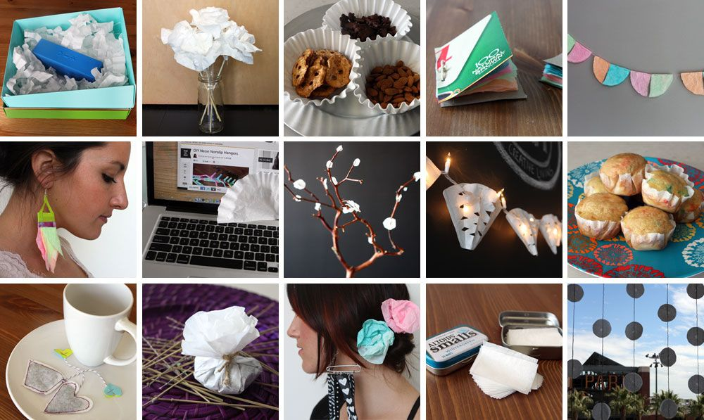 alternate uses for coffee filters including face blotters tea bags cupcake liners - Coffee Filter Uses