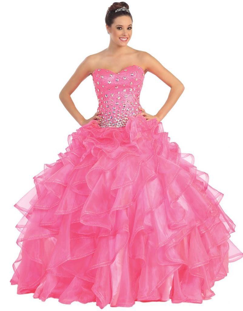 Meier Women\'s Sequin Beaded Corset Strapless Quinceanera Ball Gown ...