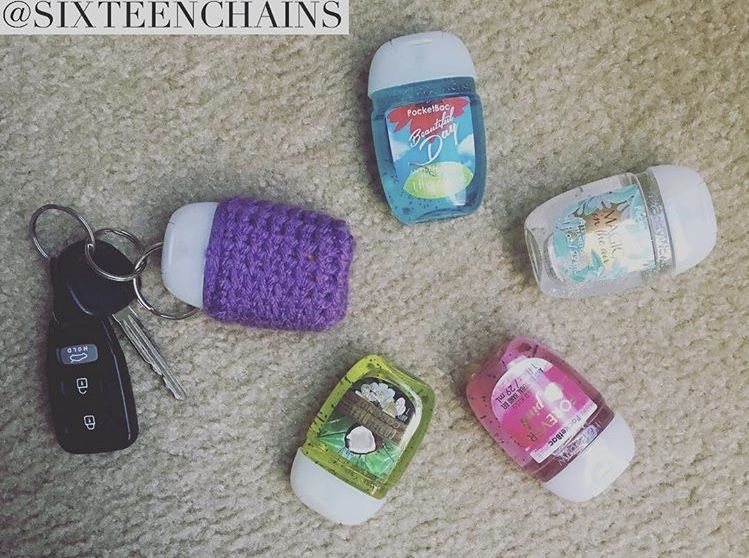 Bath And Body Works Hand Sanitizer Crochet Keychain Crochet