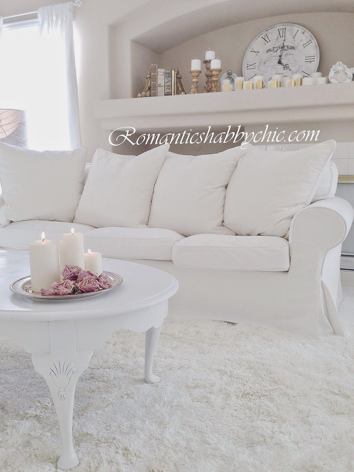 Romantic Shabby Chic Home | Ethereal whites | Pinterest | Romantic ...