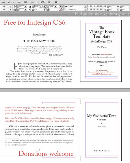 Free 6″ x 9″ book template for Adobe InDesign | The Job