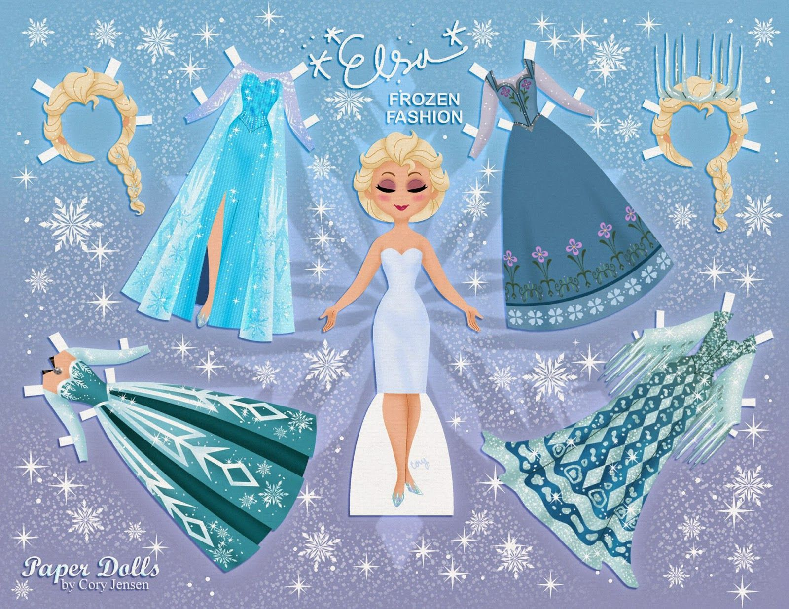 PRINCESS COLORING PAGES DISNEY FROZEN PAPER DOLLS FREE PRINTABLE
