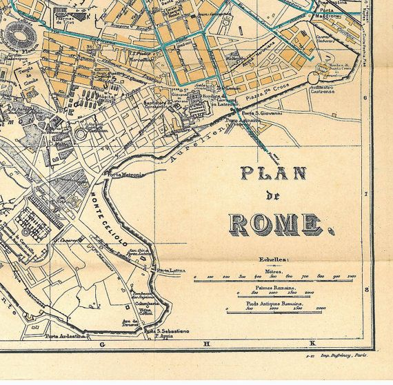 Rome City Plan Italy 1920 Street Map Large take me back Mapquest