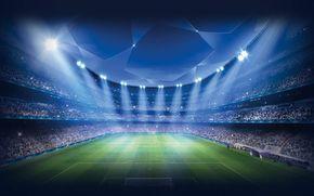 Uefa Champions League Football Stadium Floodlight Stadium Wallpaper Field Wallpaper Soccer Stadium