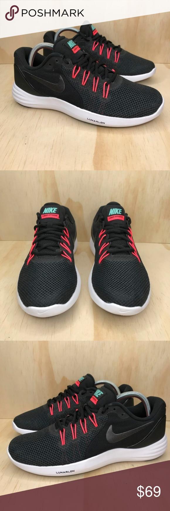 NEW Nike Lunar Apparent Black Solar Red