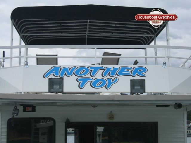 Houseboatgraphicsanothertoyboatnamedecals - Houseboat decals