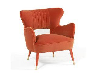 Sedie velluto ~ Poltrona in velluto con braccioli bebe munna armchair