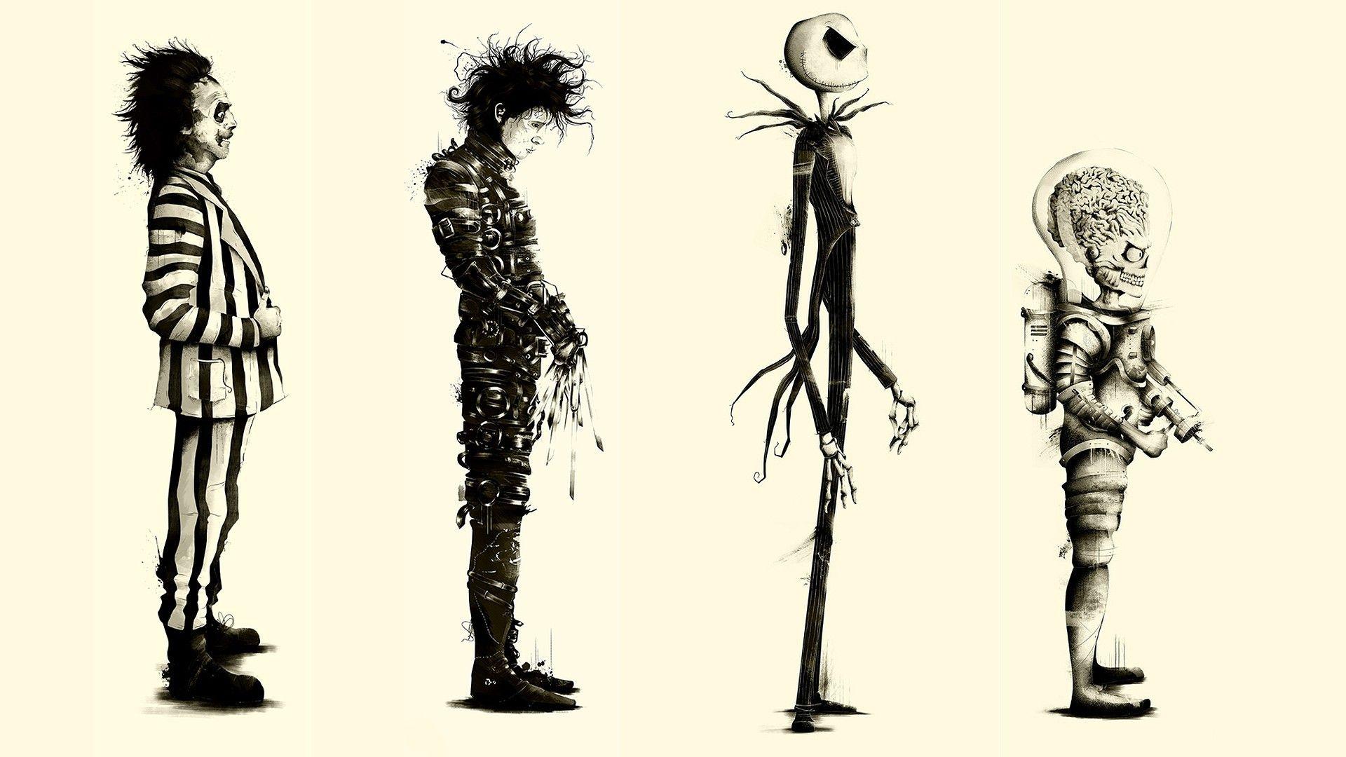 Tim Burton Movies Beetlejuice Fan Art Edward Scissorhands