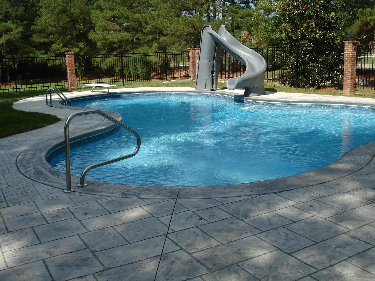 Swimming pool nice swimming pool design with slide how to - How to build a swimming pool slide ...
