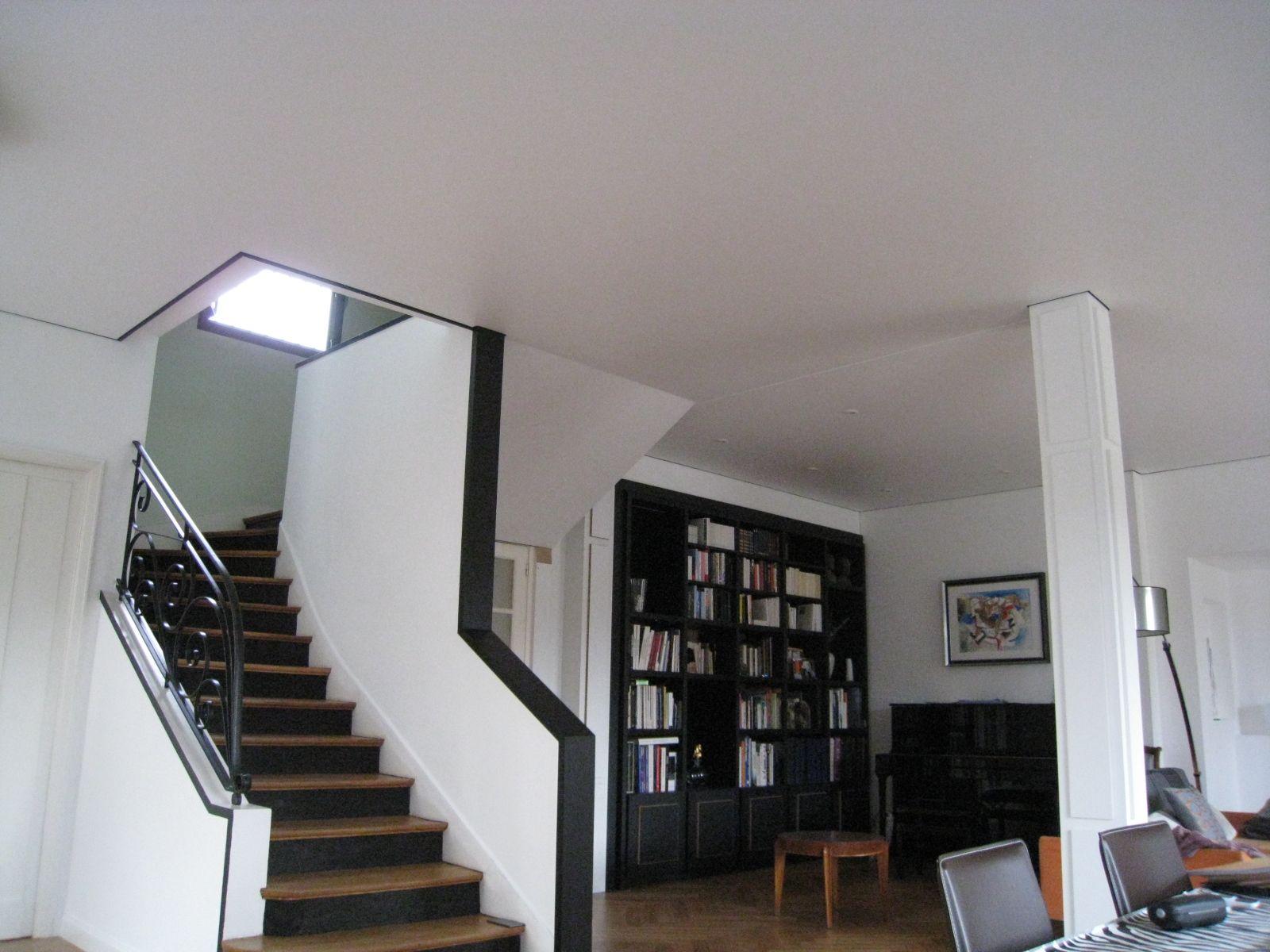 r novation d un plafond de 60 m2 avec un plafond tendu extenzo toulouse 31 sous sol. Black Bedroom Furniture Sets. Home Design Ideas