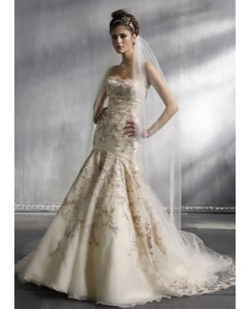 kleinfeld pink floral dress | Pink Lazaro Dress | Dream Wedding ...