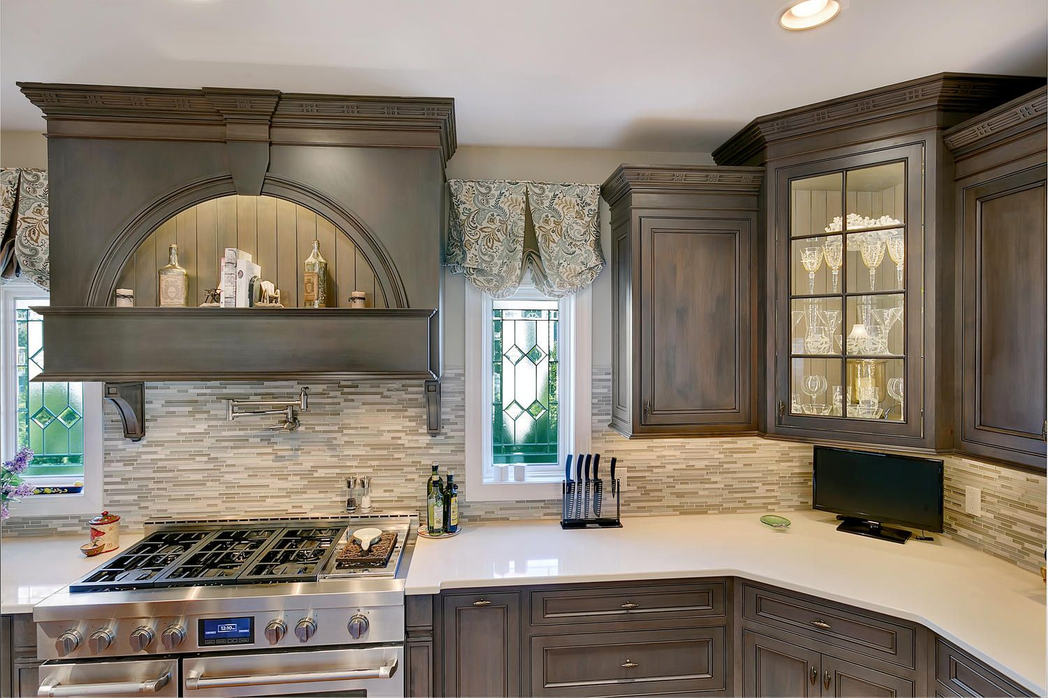 Driftwood With Glaze Large Kitchen Point Pleasant New Jersey Pleasing Design Line Kitchens Inspiration