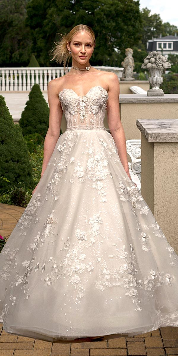 Applique Wedding Dress